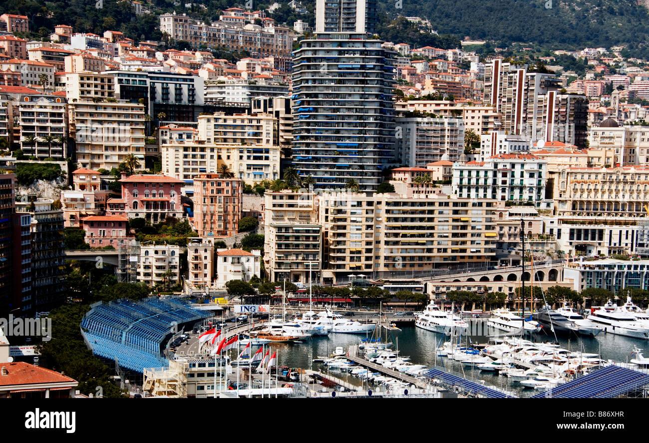 Urban scene of Monte Carlo in the Principality of Monaco. - Stock Image