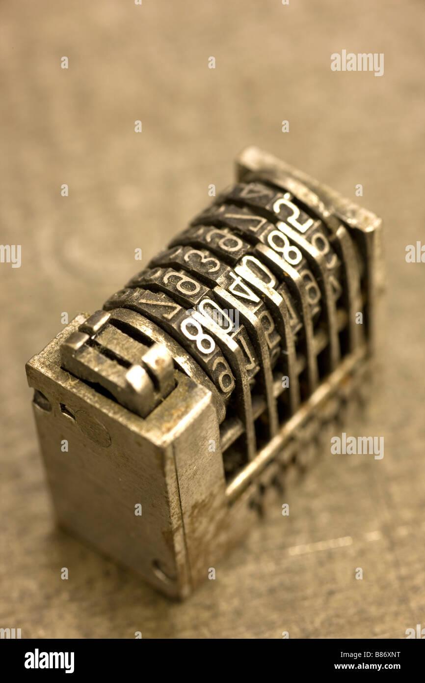 Letterpress Printing Process Numbering Box