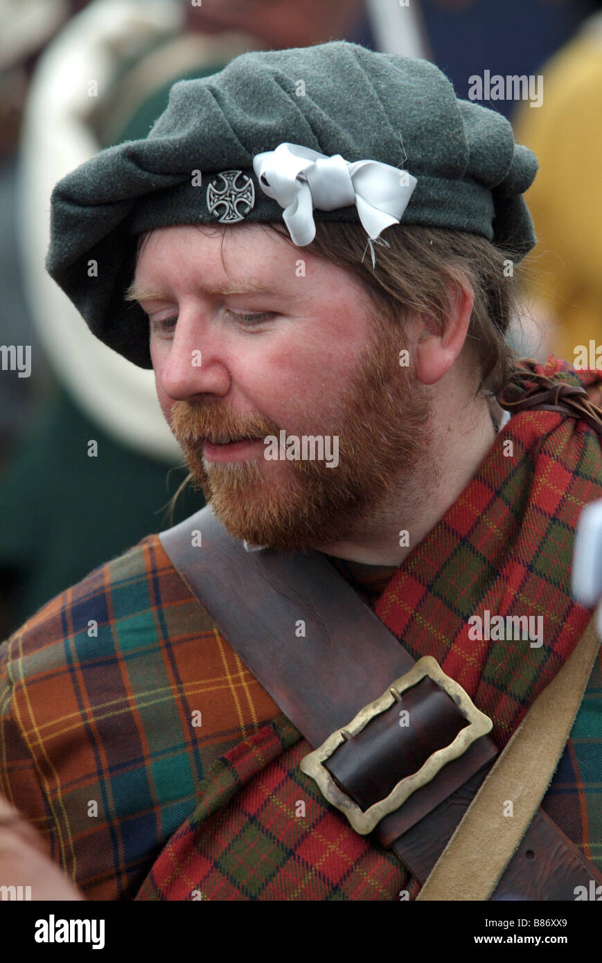 Jacobite soldier at the 2008 re-enactment of the Battle of Prestonpans, Scotland. Stock Photo