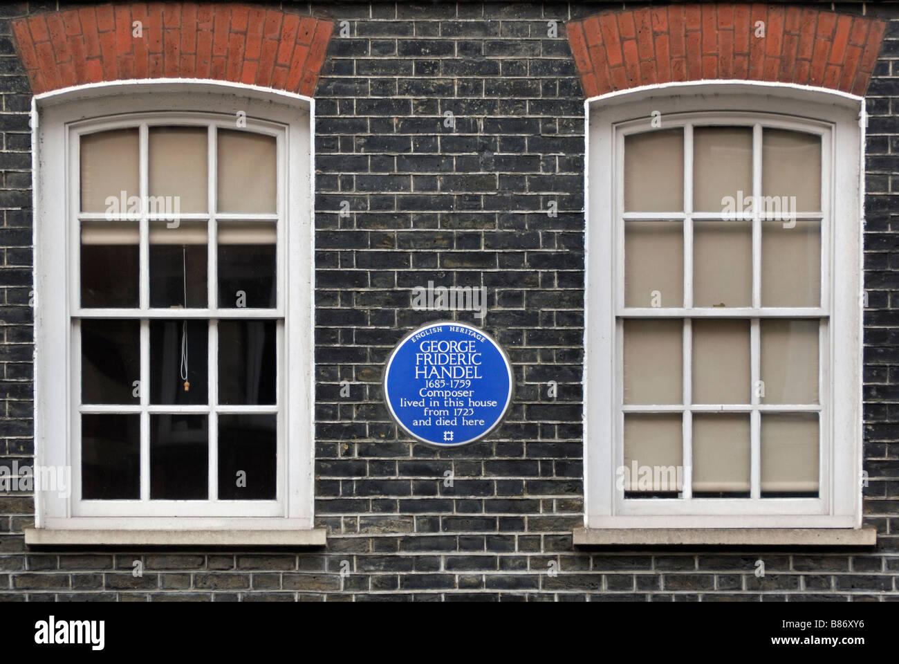 Handel Museum, Brook Street, London - Stock Image