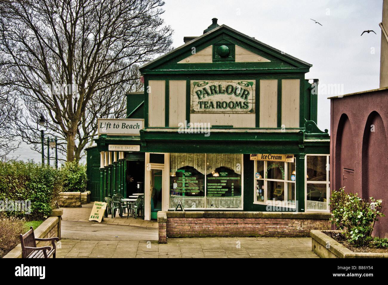 Parlour tearooms Scarborough Stock Photo