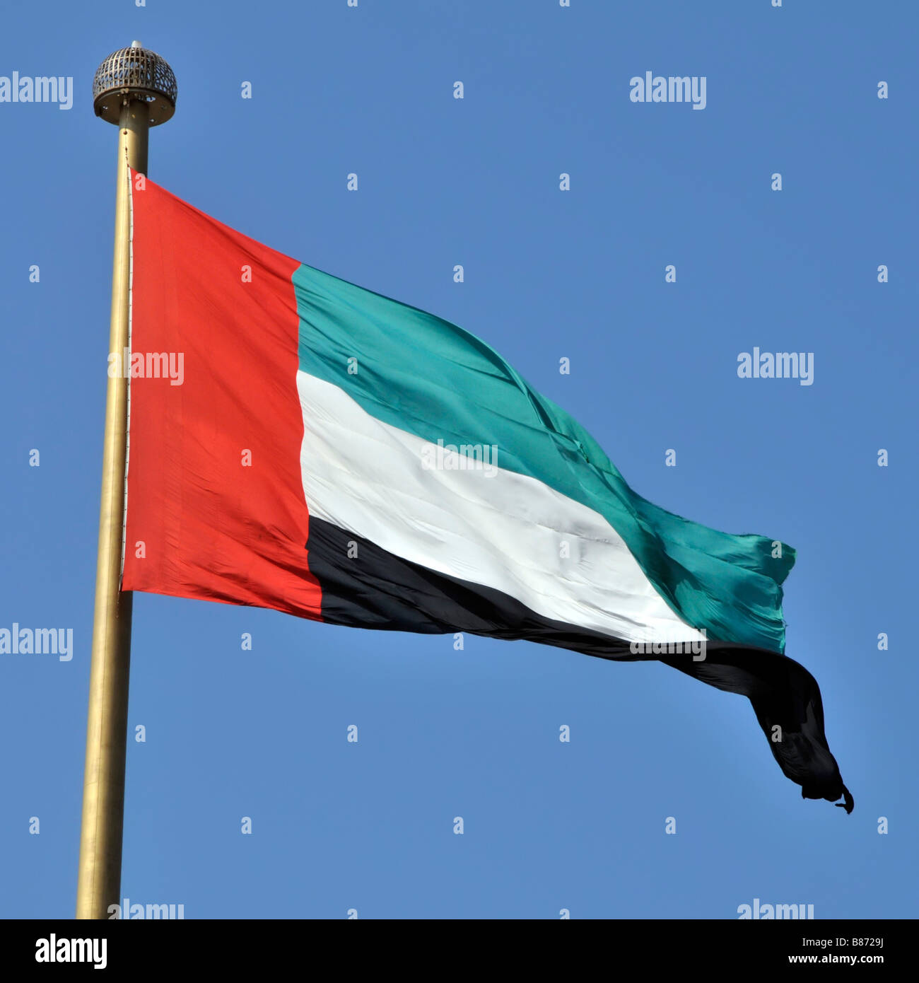 dubai the uae arab emirates flag at jumeirah on the location of stock photo 22283118 alamy. Black Bedroom Furniture Sets. Home Design Ideas