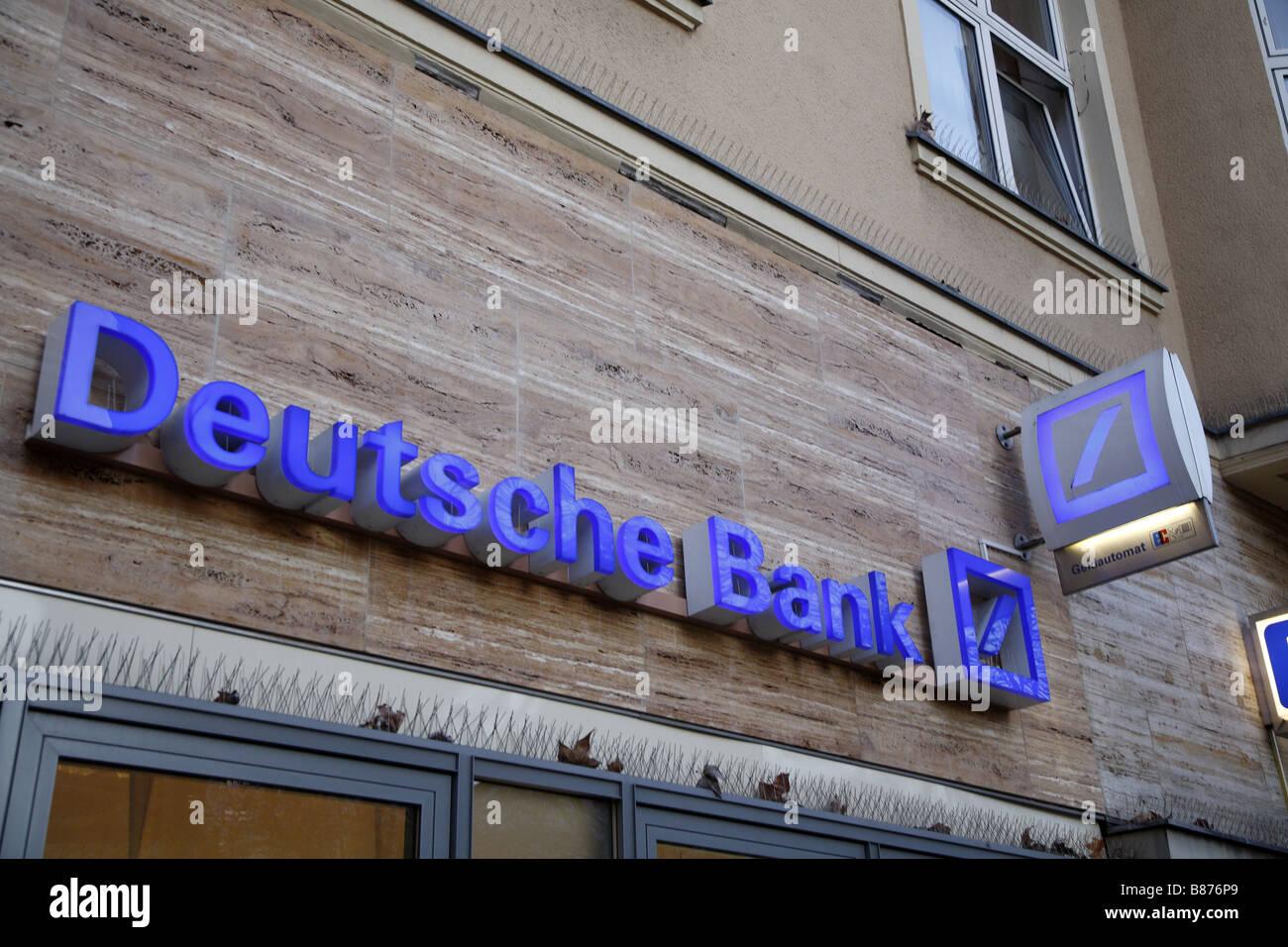 Berlin Deutsche Bank - Stock Image