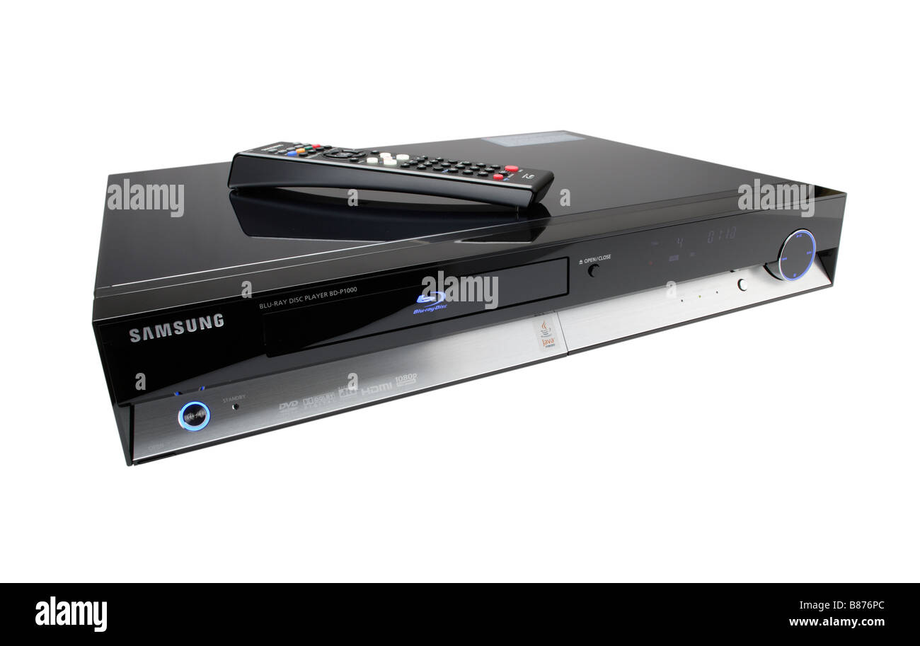 Samsung Blu ray DVD player - Stock Image