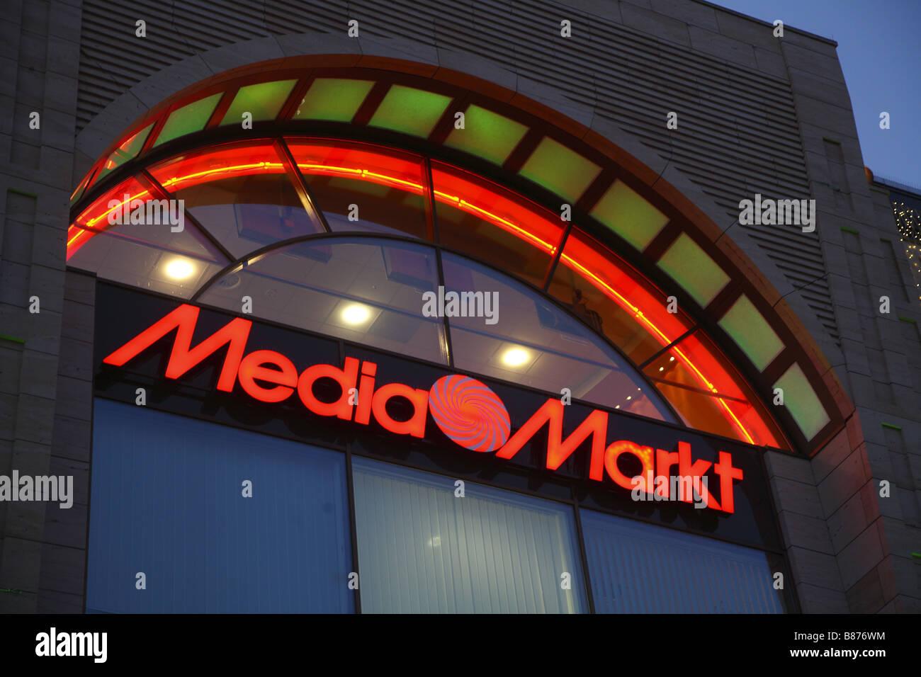 Berlin Media Markt - Stock Image