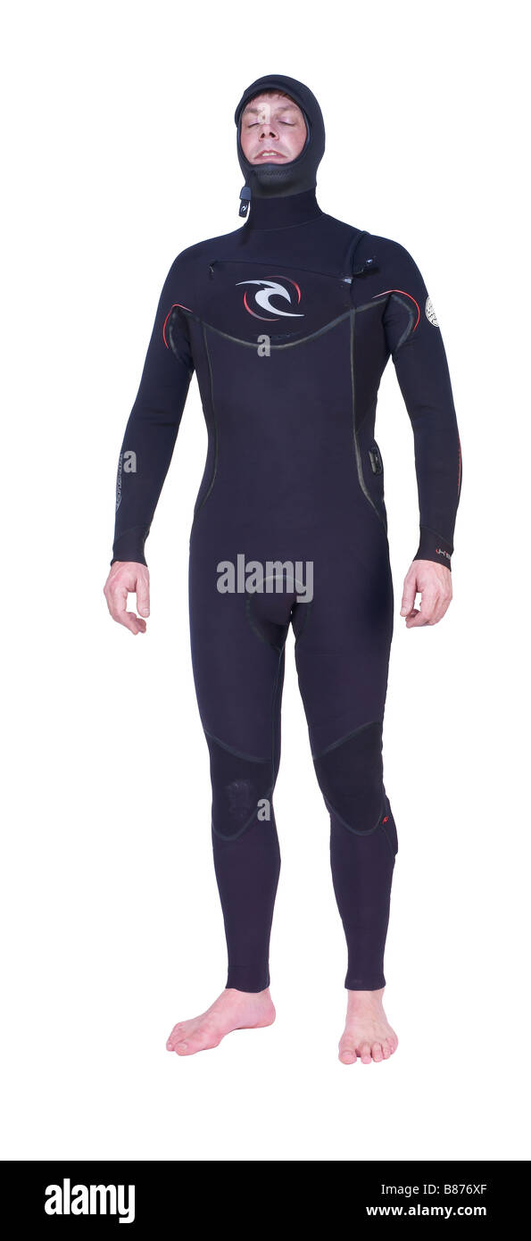 Diver in a wetsuit Stock Photo