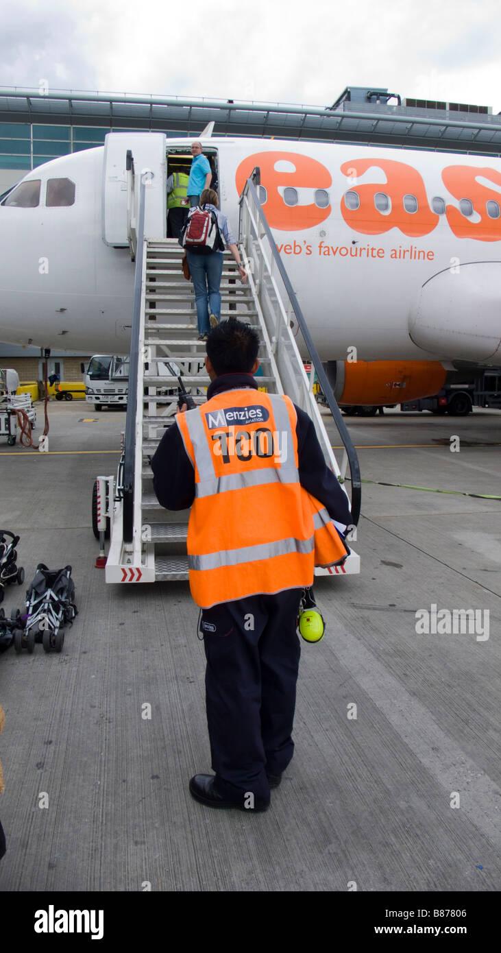 Easyjet passengers - Stock Image