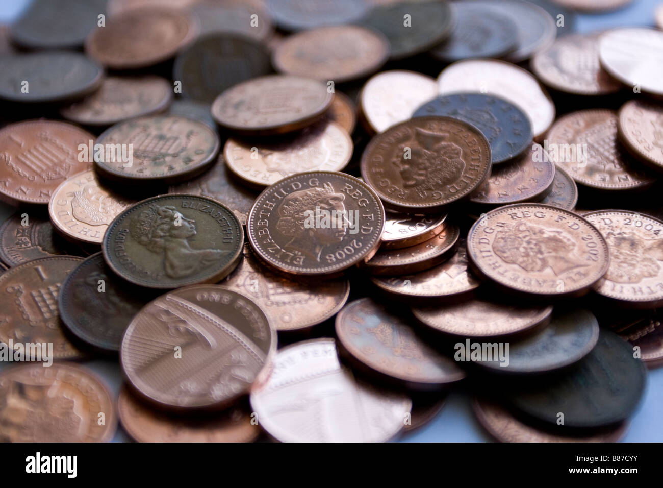 lots of pennies - Stock Image