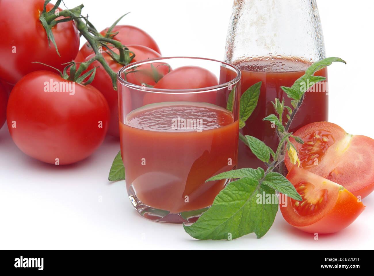Tomatensaft tomato juice 07 - Stock Image