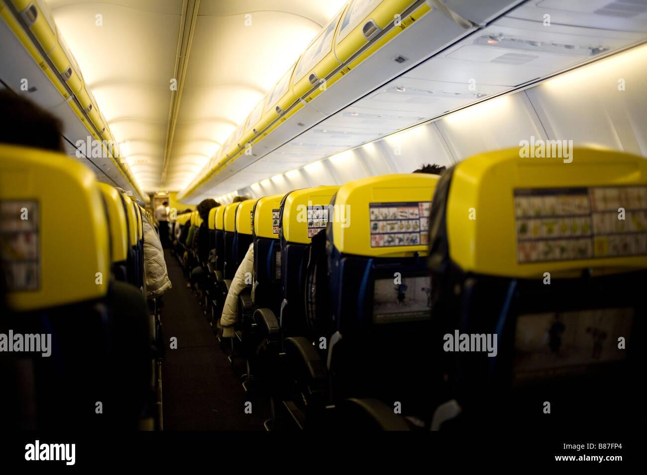 A Ryanair flight - Stock Image