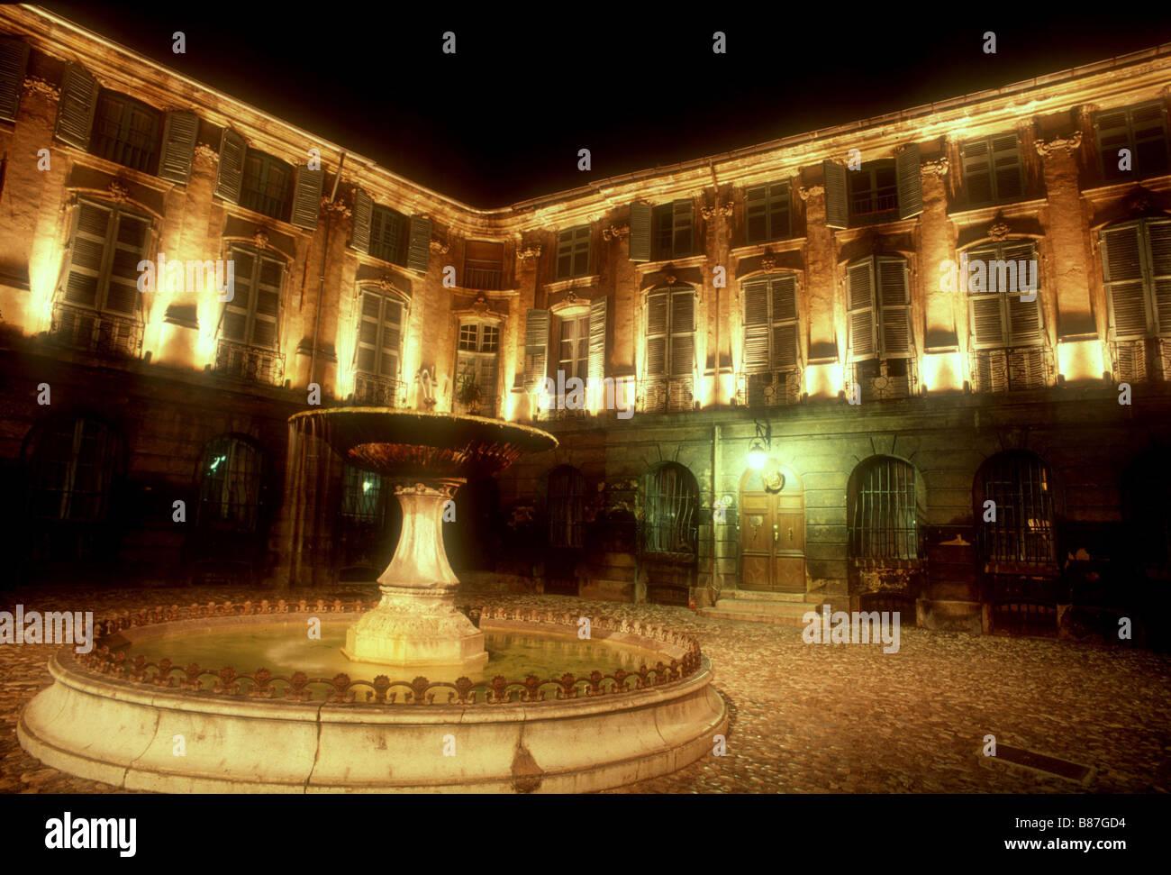 Place Albertas a Aix-en-Provence Stock Photo