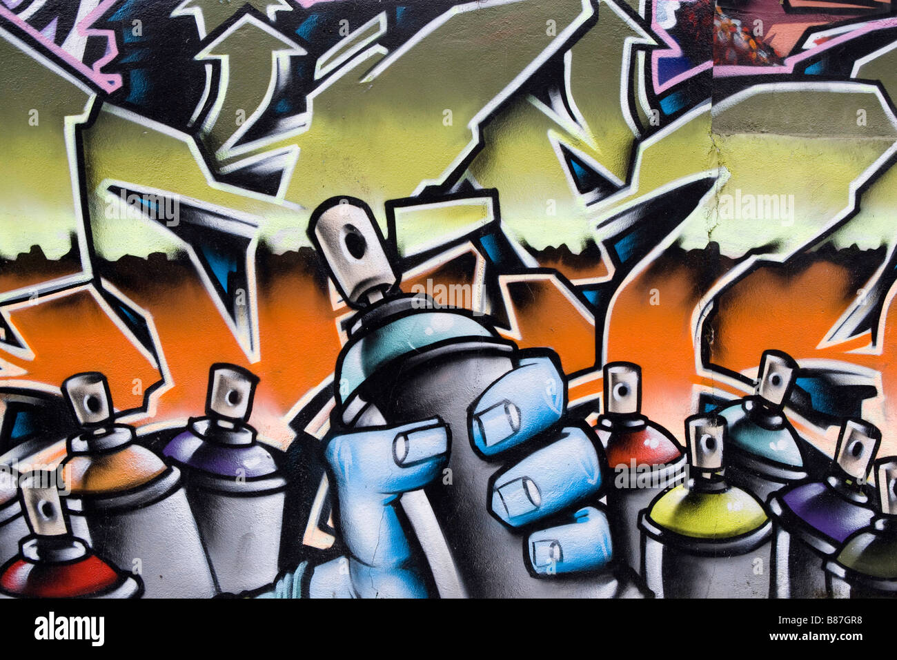 Grafitti Of Spray Cans On A Wall Stock Photo Alamy Follow the process from sketch to finished. https www alamy com stock photo grafitti of spray cans on a wall 22294476 html