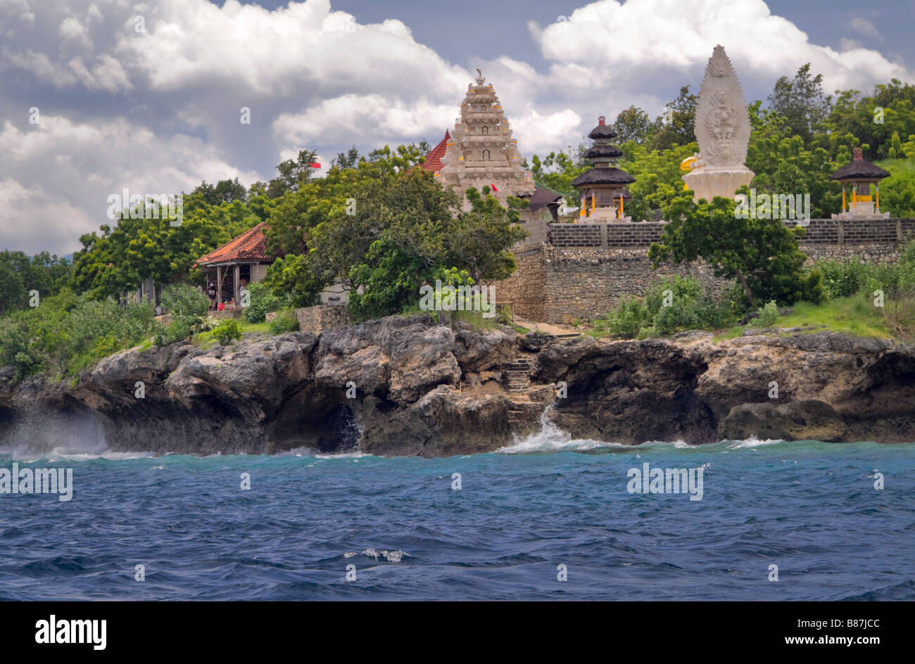 Gili Kencana Temple on the Island of Manjangan, Bali, Indonesia - Stock Image
