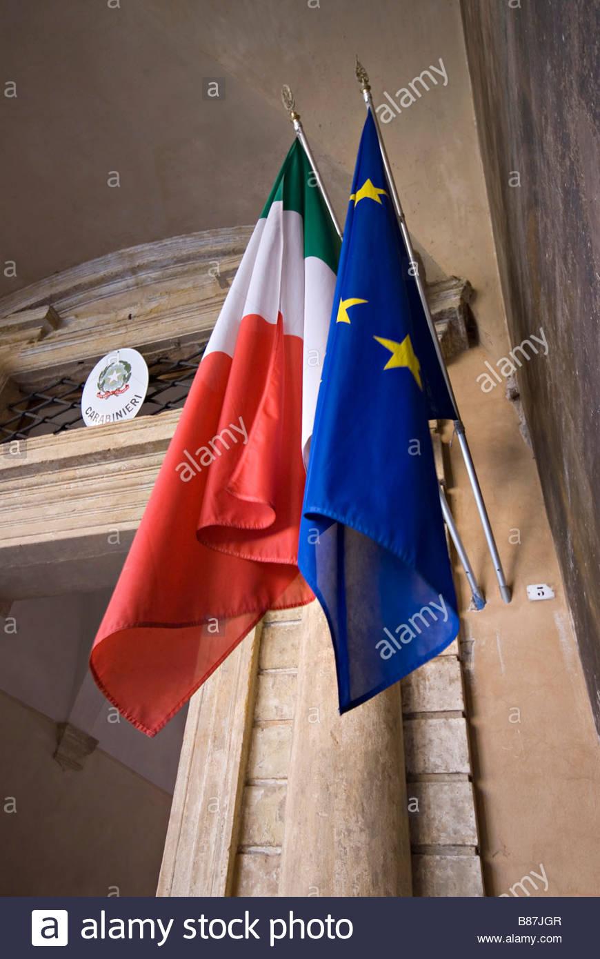 carabinieri, barrack - Stock Image