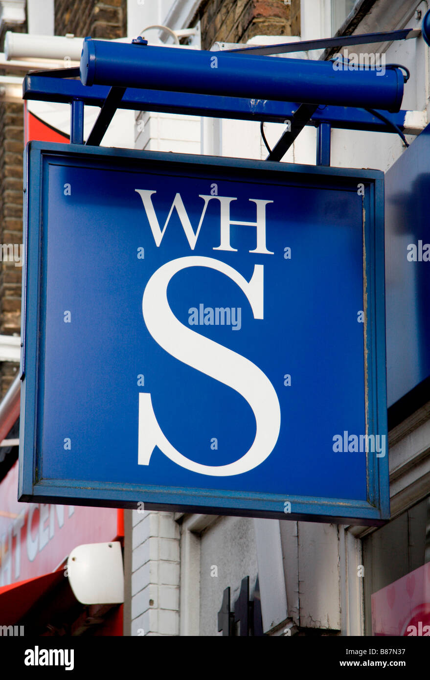 A sign above the WH Smith booksellers and stationers shop, Baker Street, London. Jan 2009 - Stock Image