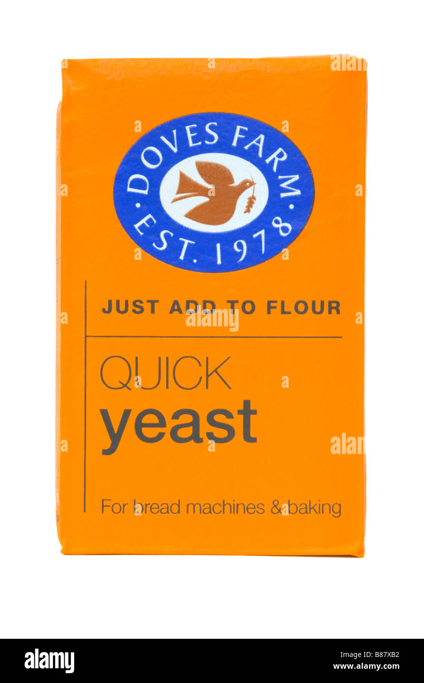 Packet Of Doves Farm Quick Yeast - Stock Image