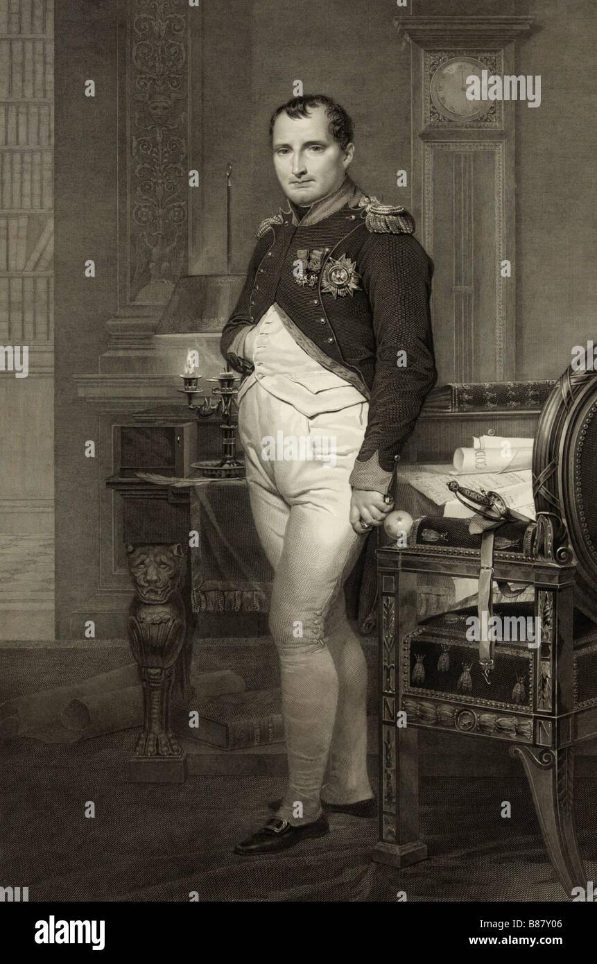 Napoleon I Napoleon Bonaparte 1769 to 1821. French Emperor. - Stock Image