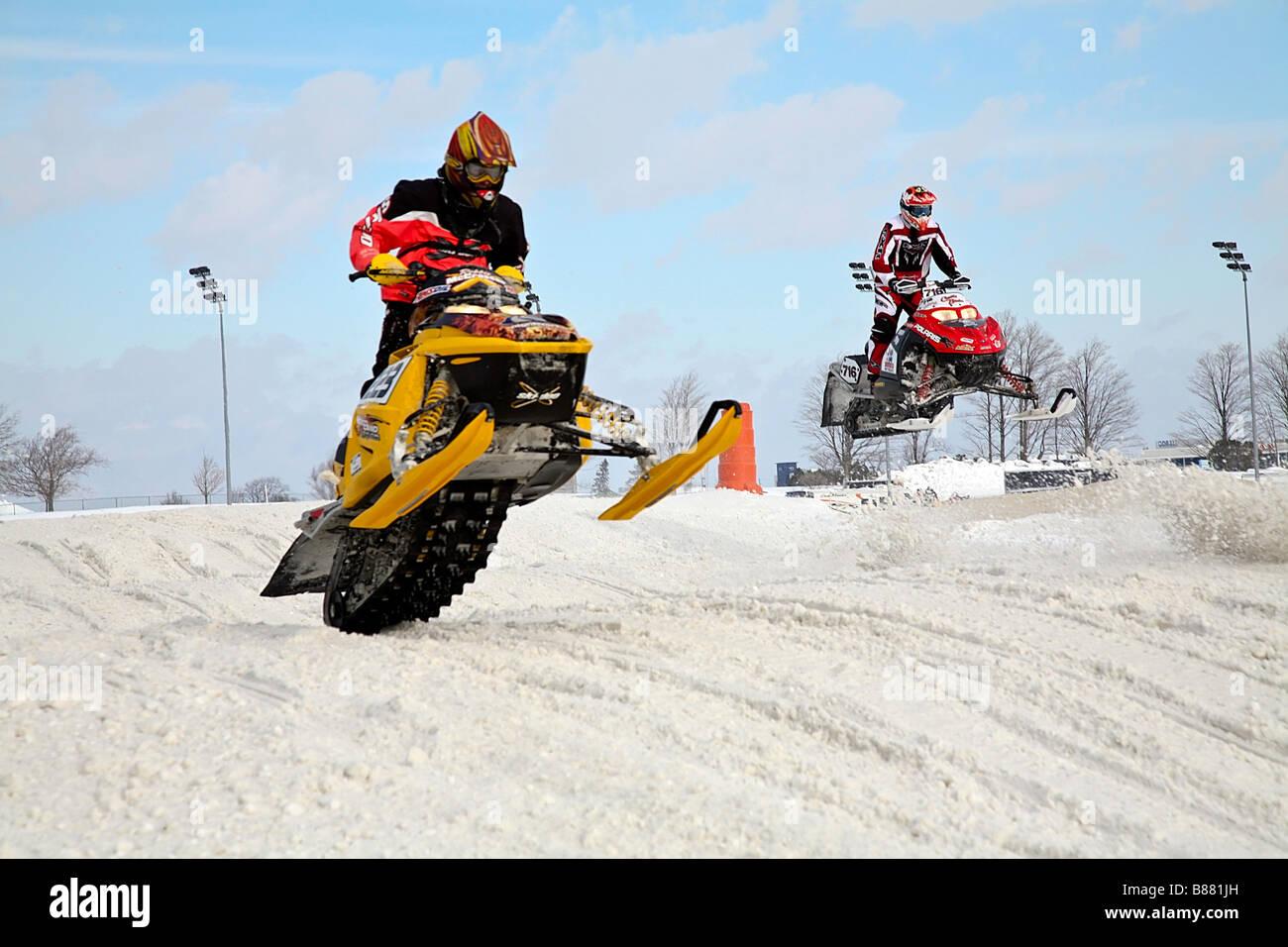 Royaume-Uni disponibilité 1c8e4 14e07 Snowcross, Snowmobile Race in North America, Canada Stock ...