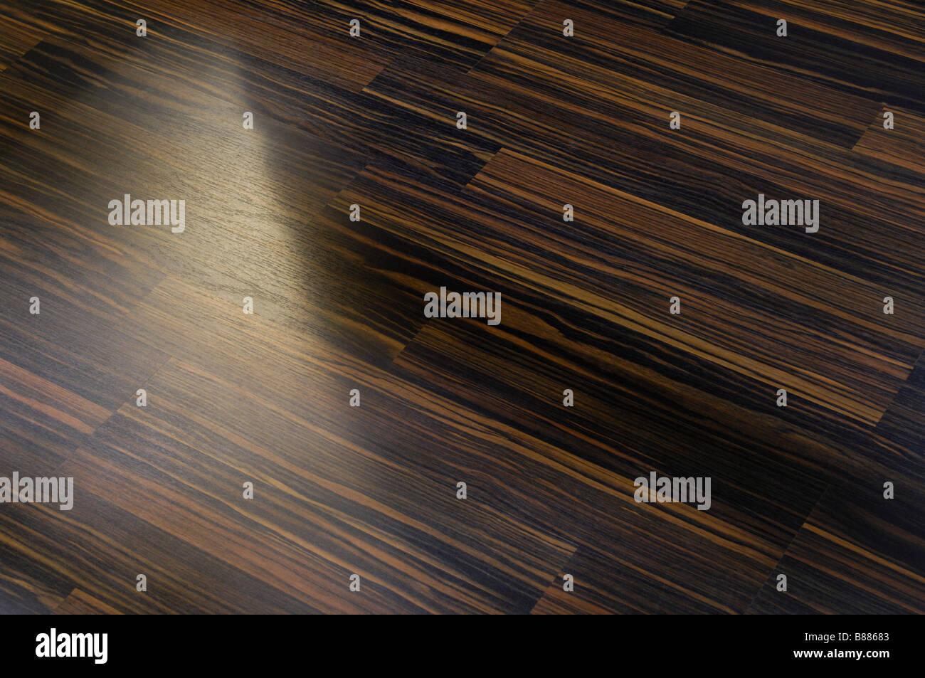 Laminated floor - Stock Image