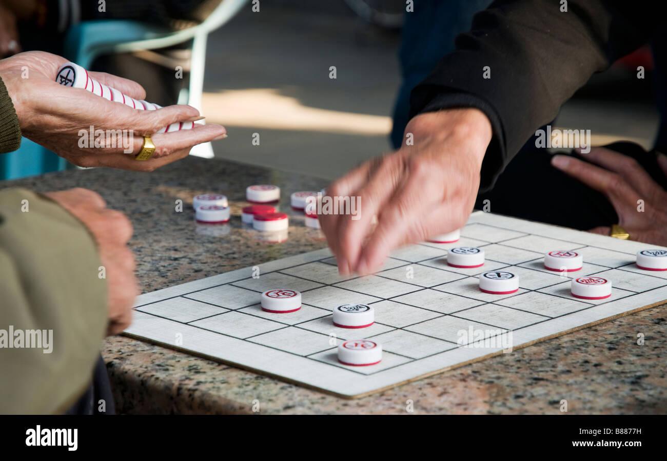 winning game of draughts - Stock Image