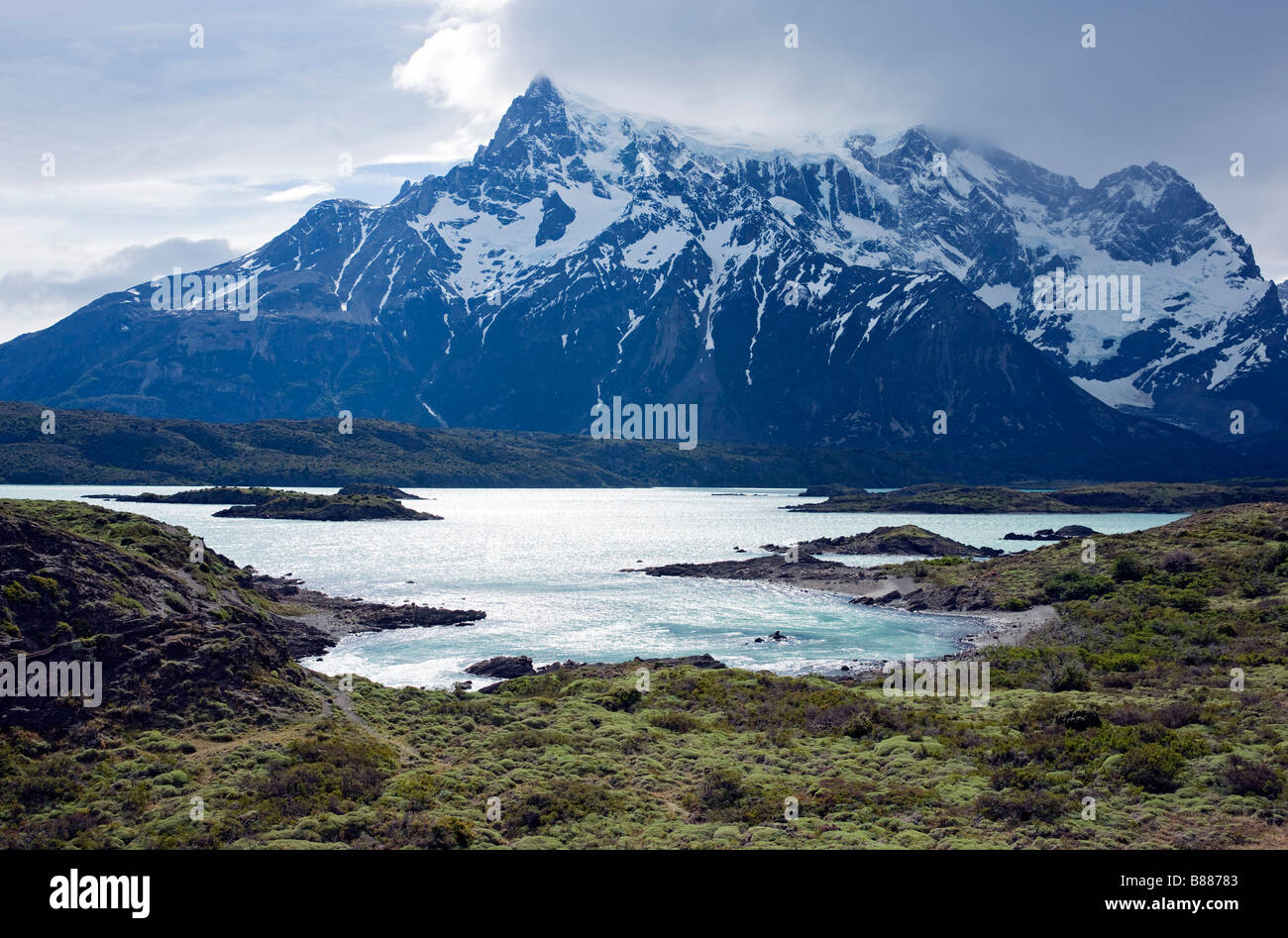Lago Nordenskjold in the Torres del Paine National Park, Chile - Stock Image