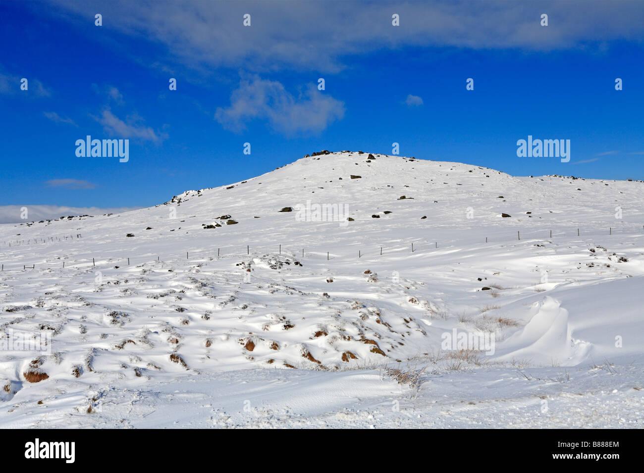 Winter on West Nab, Meltham Moor near Holmfirth, West Yorkshire, Peak District National Park, England, UK. - Stock Image