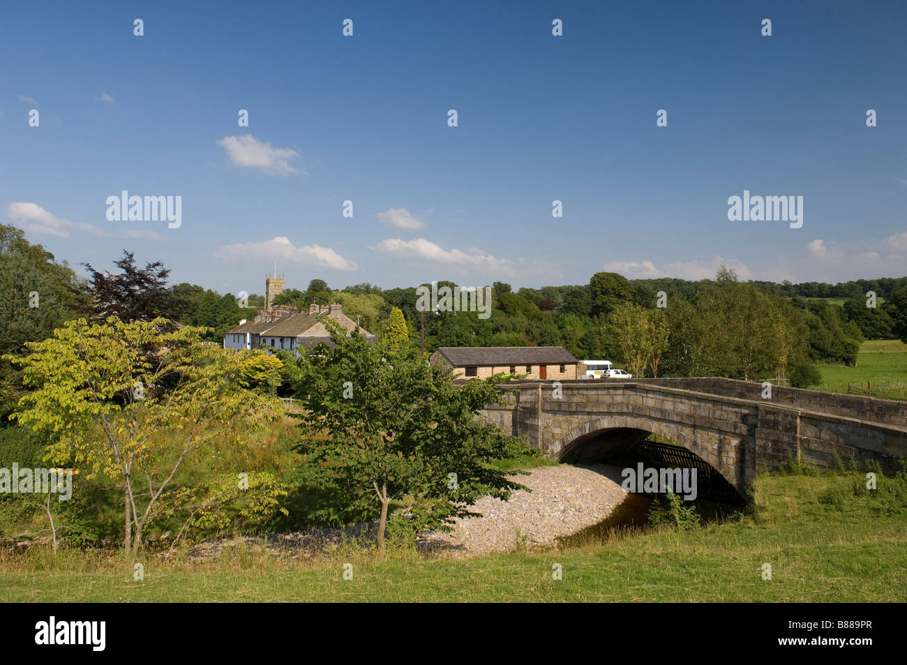 Bolton by Bowland in the Ribble Valley Lancashire in North West England - Stock Image