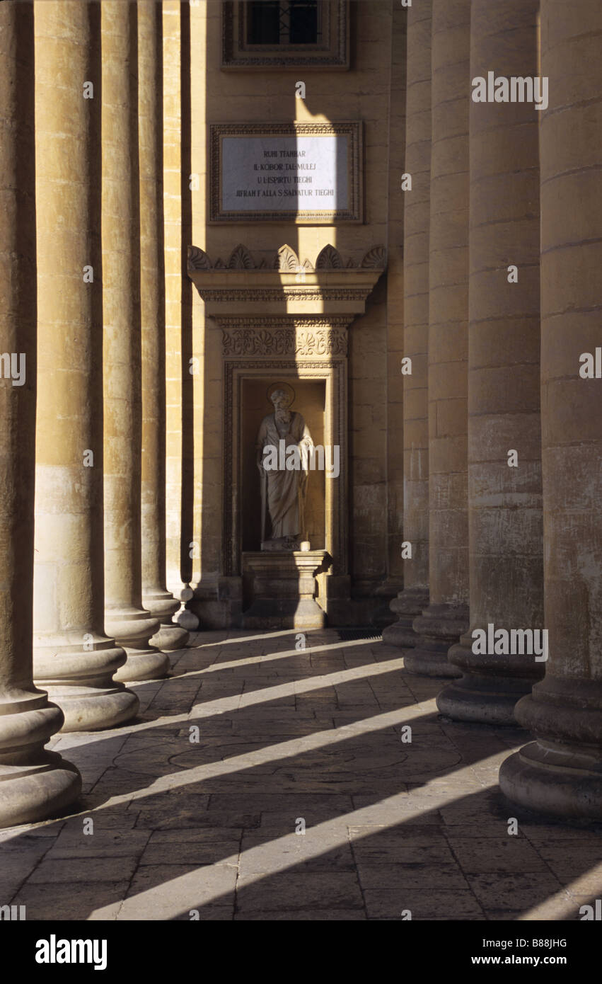 Columns & Patterns at the Mosta Rotunda, Malta - Stock Image