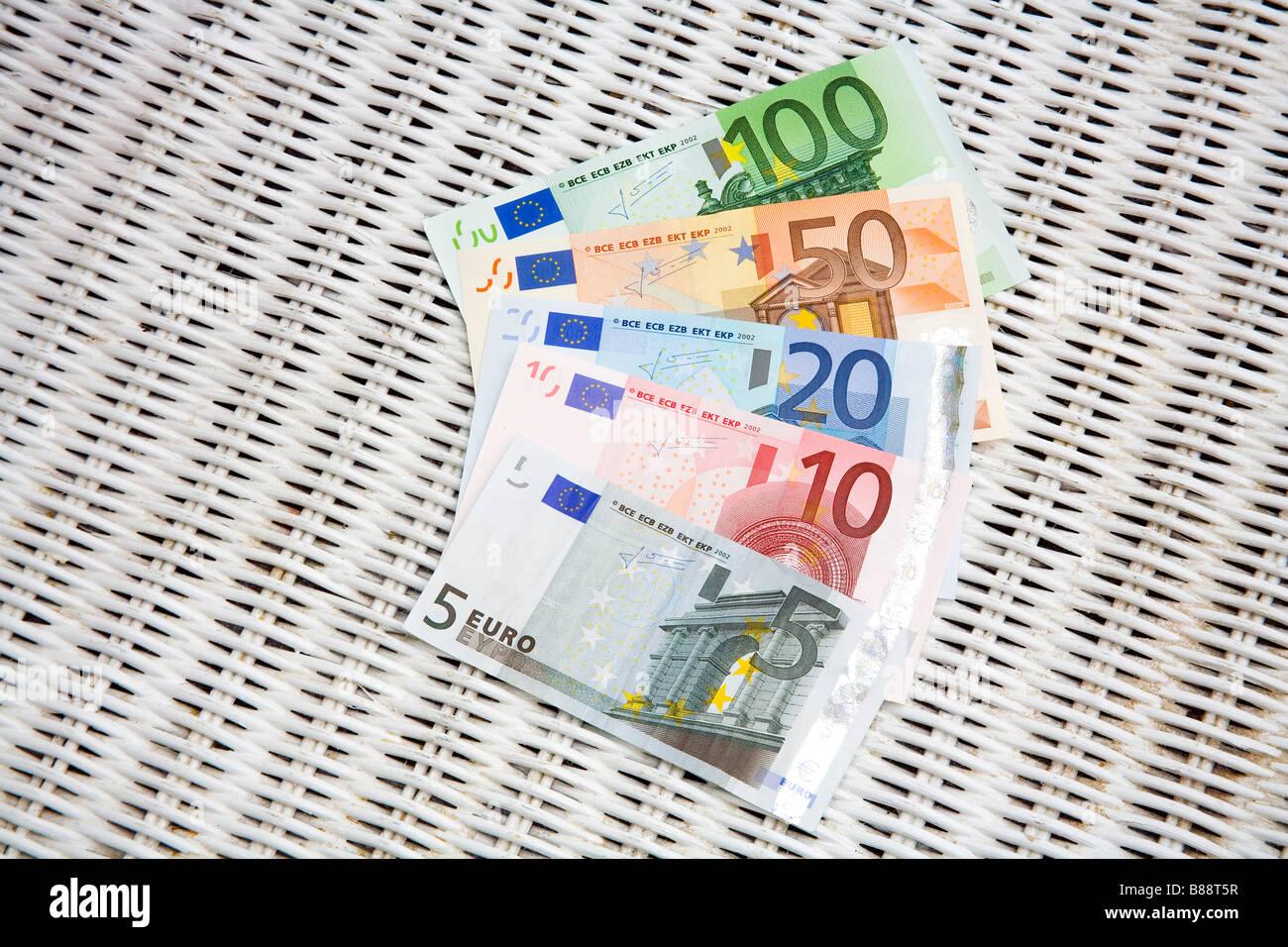 European EURO Banknotes - Stock Image