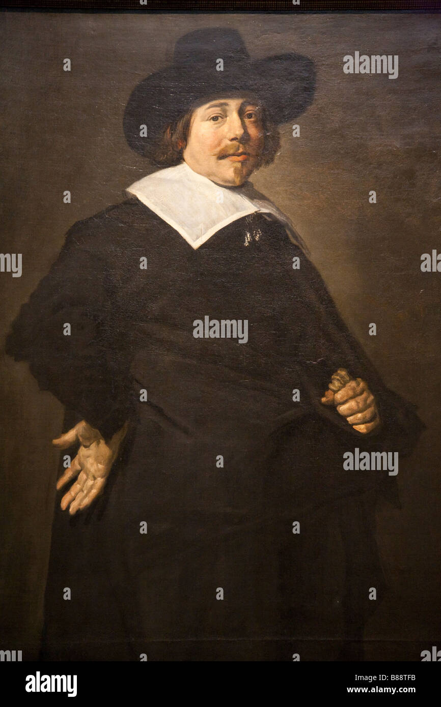 Frans Hals (portrait of a gentleman (Albert van Nierop ?) 1640) oil on canvas - Stock Image
