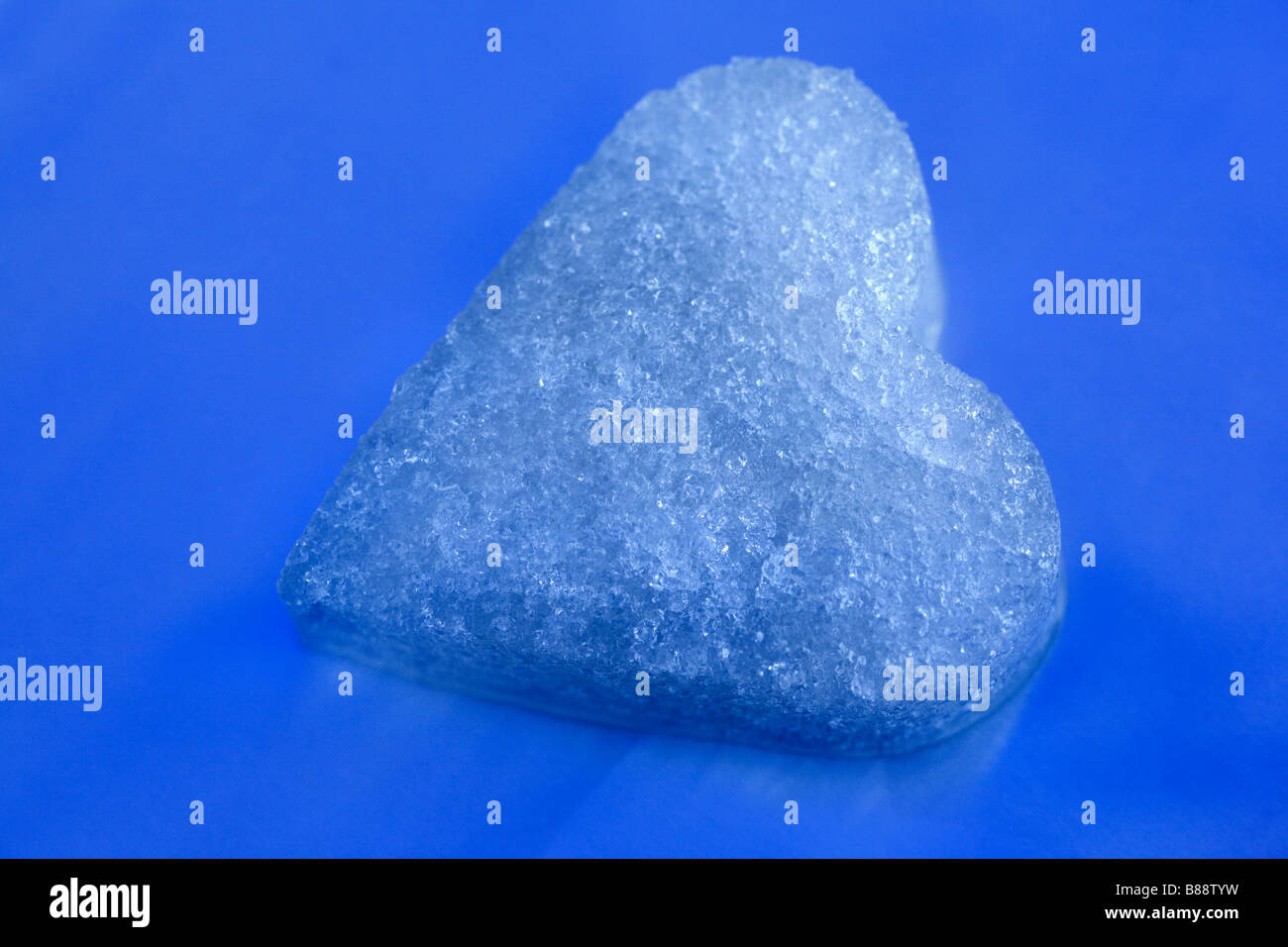 A heart of ice. - Stock Image