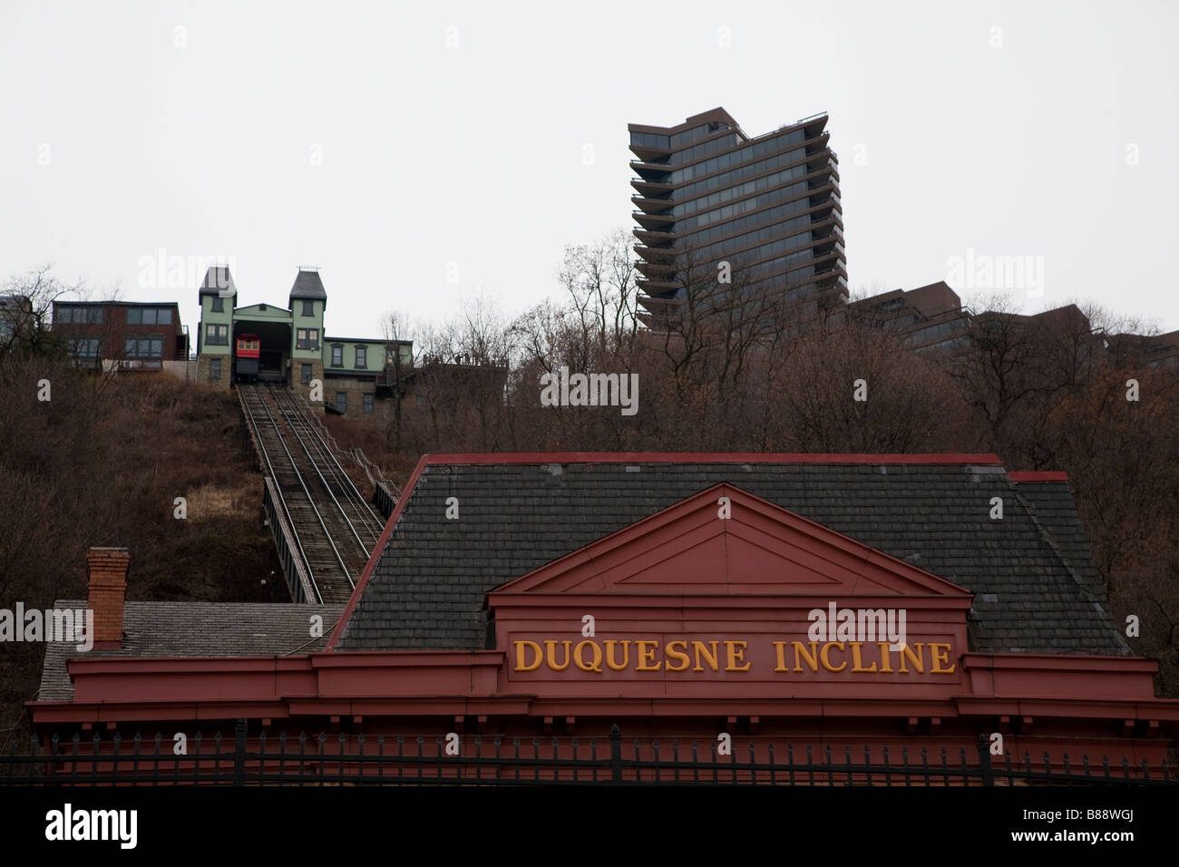 Duquesne Incline Pittsburgh - Stock Image