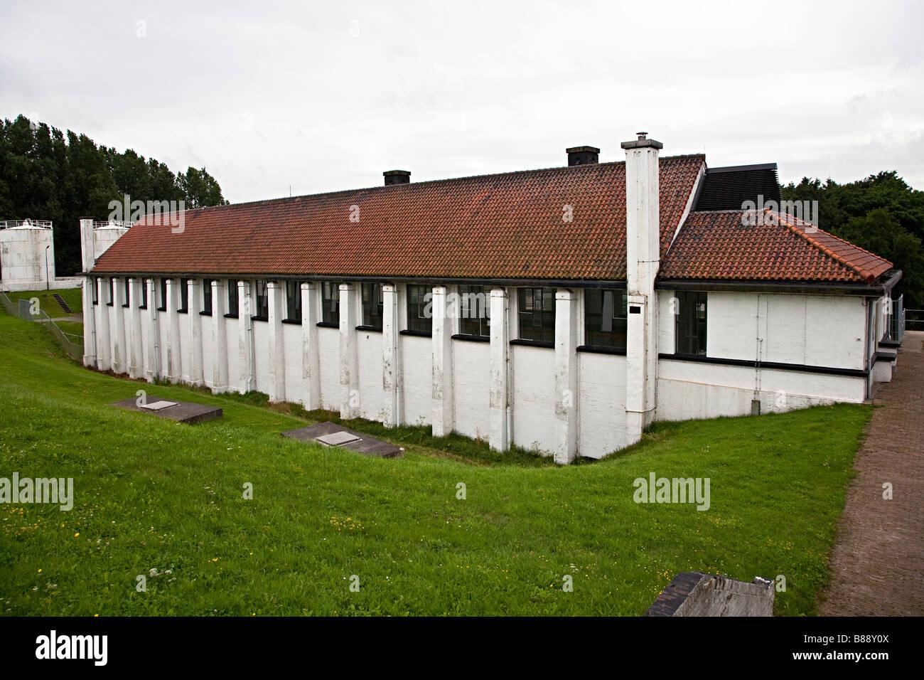 Gemaal Leemans pumping station Den Oever Noord-Holland Netherlands - Stock Image
