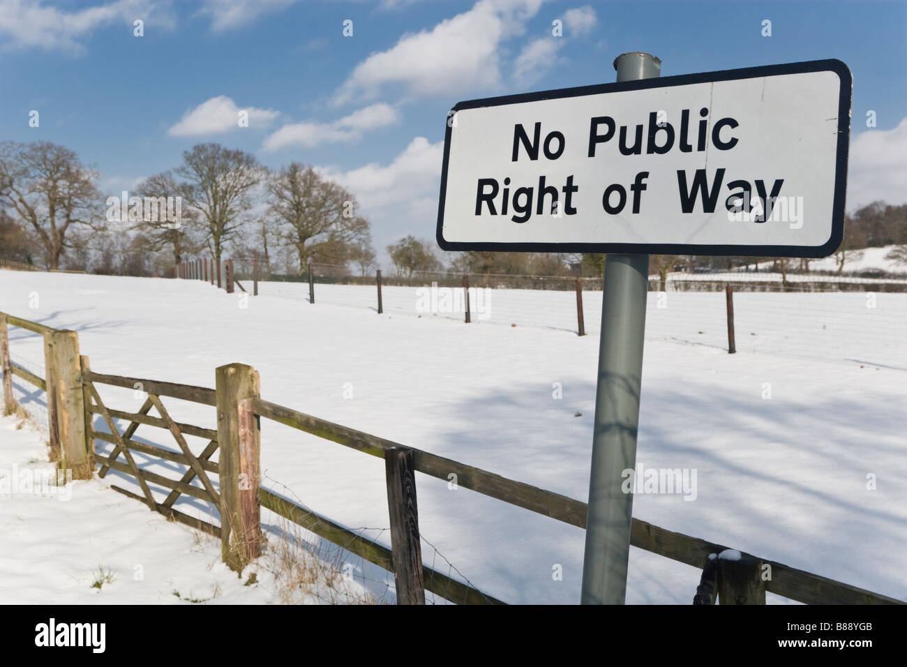No Public Right of Way - Stock Image