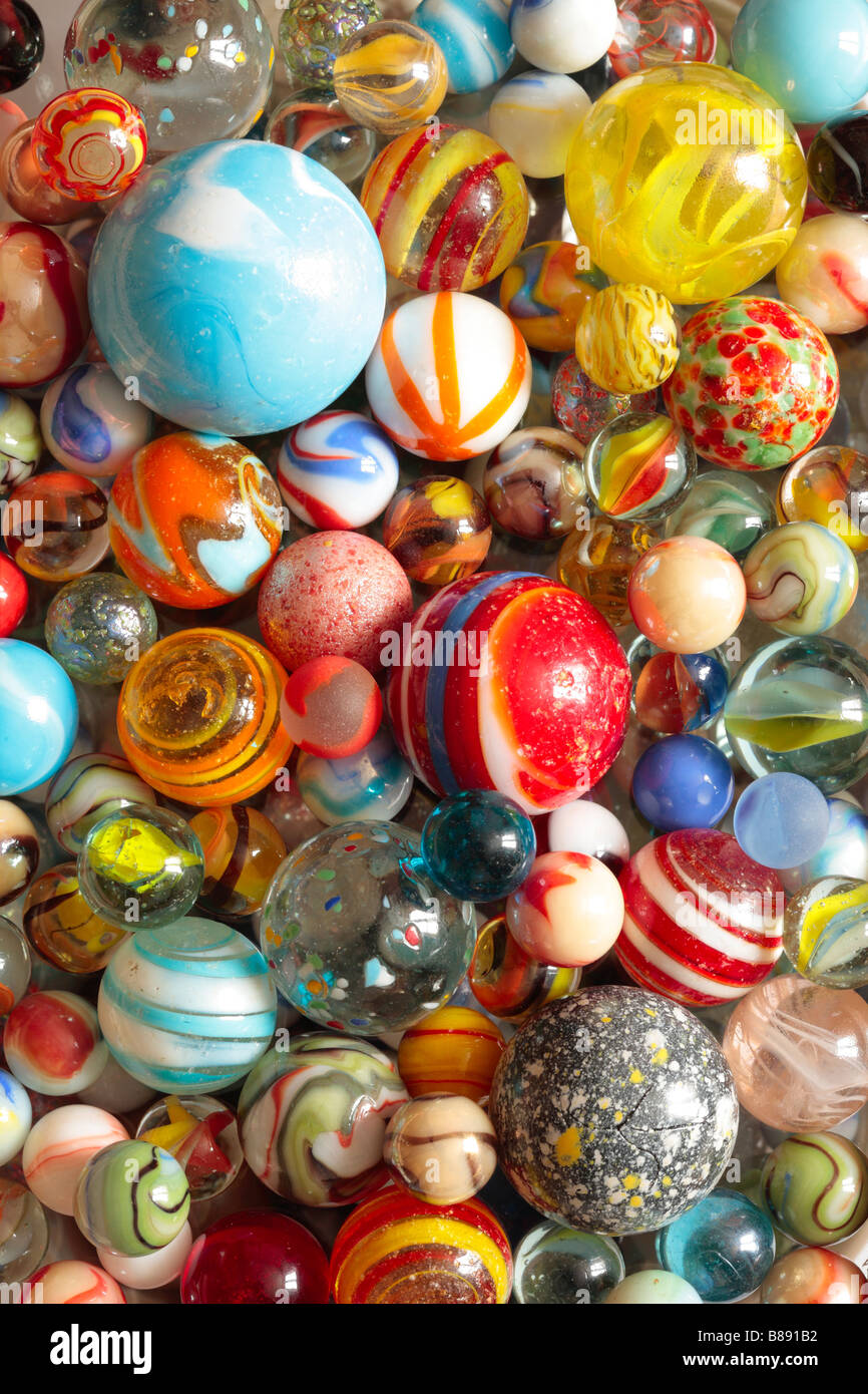 Glass Marbles Background Texture - Stock Image