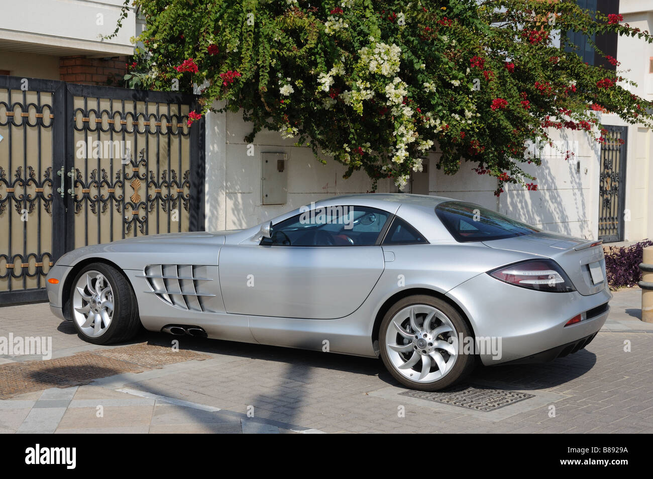 Luxury Sports Car Mercedes Benz Slr Mclaren In Dubai Stock Photo Alamy