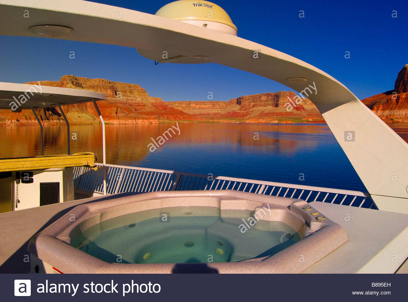 Hot Tub On Board A 75 Foot Luxury Class Houseboat On Lake Powell