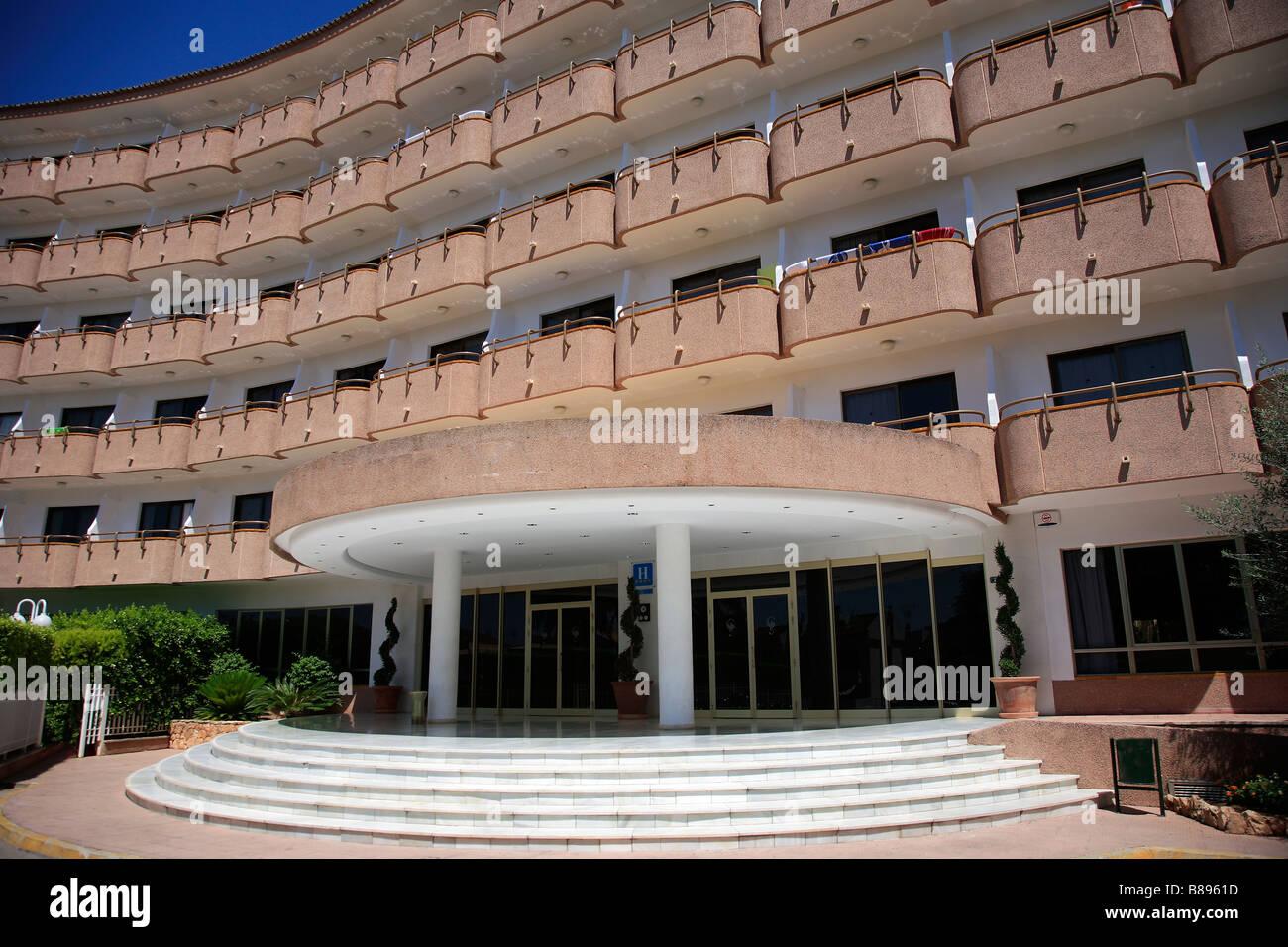 4star Hotel Maritimo Puerto de Alcudia Town Mallorca Majorca Island Balearic Isles Mediterranean Sea Spain - Stock Image