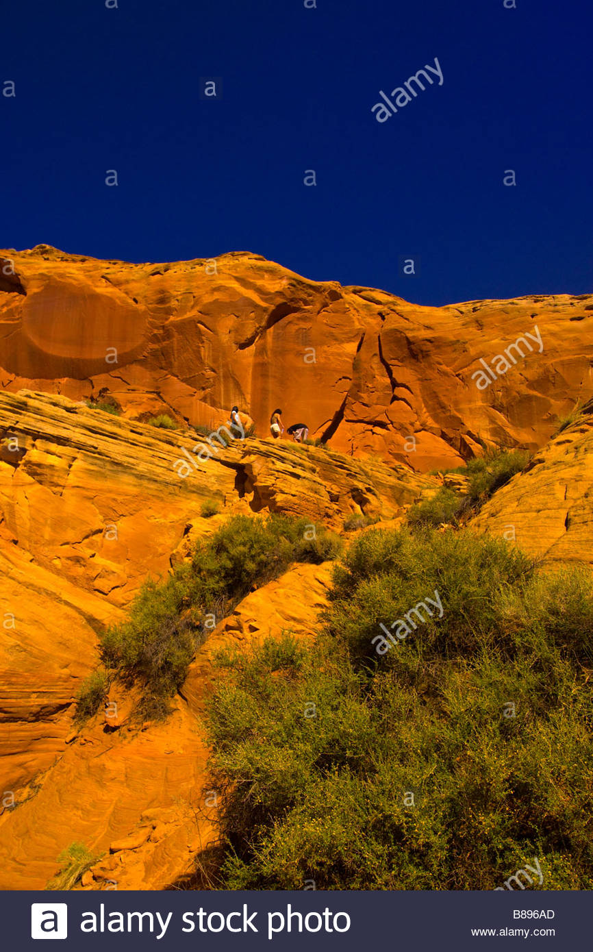 Secret Canyon slot canyon near Page Arizona USA Stock Photo