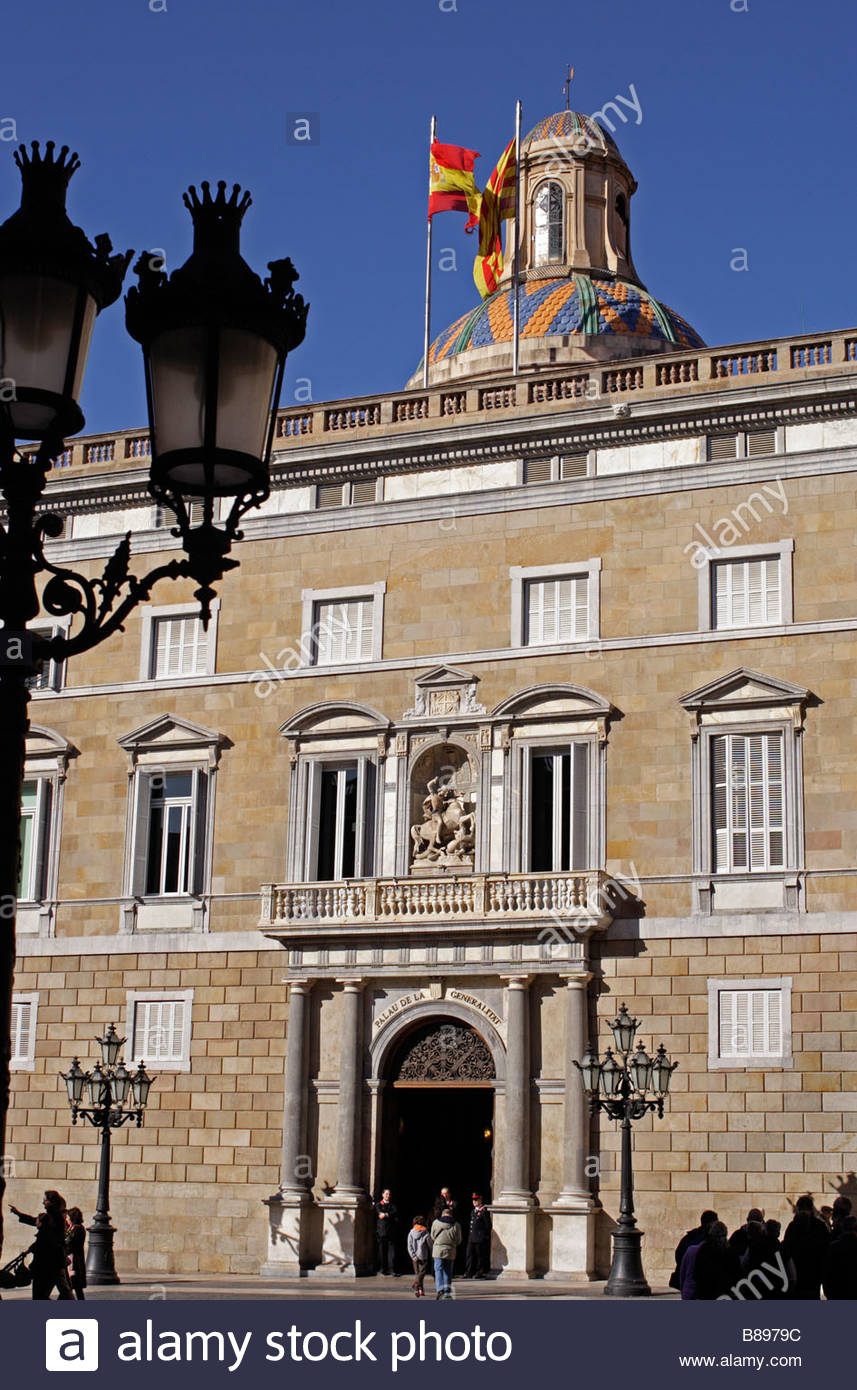 The Generalitat, seat of Catalan local government, Barcelona - Stock Image