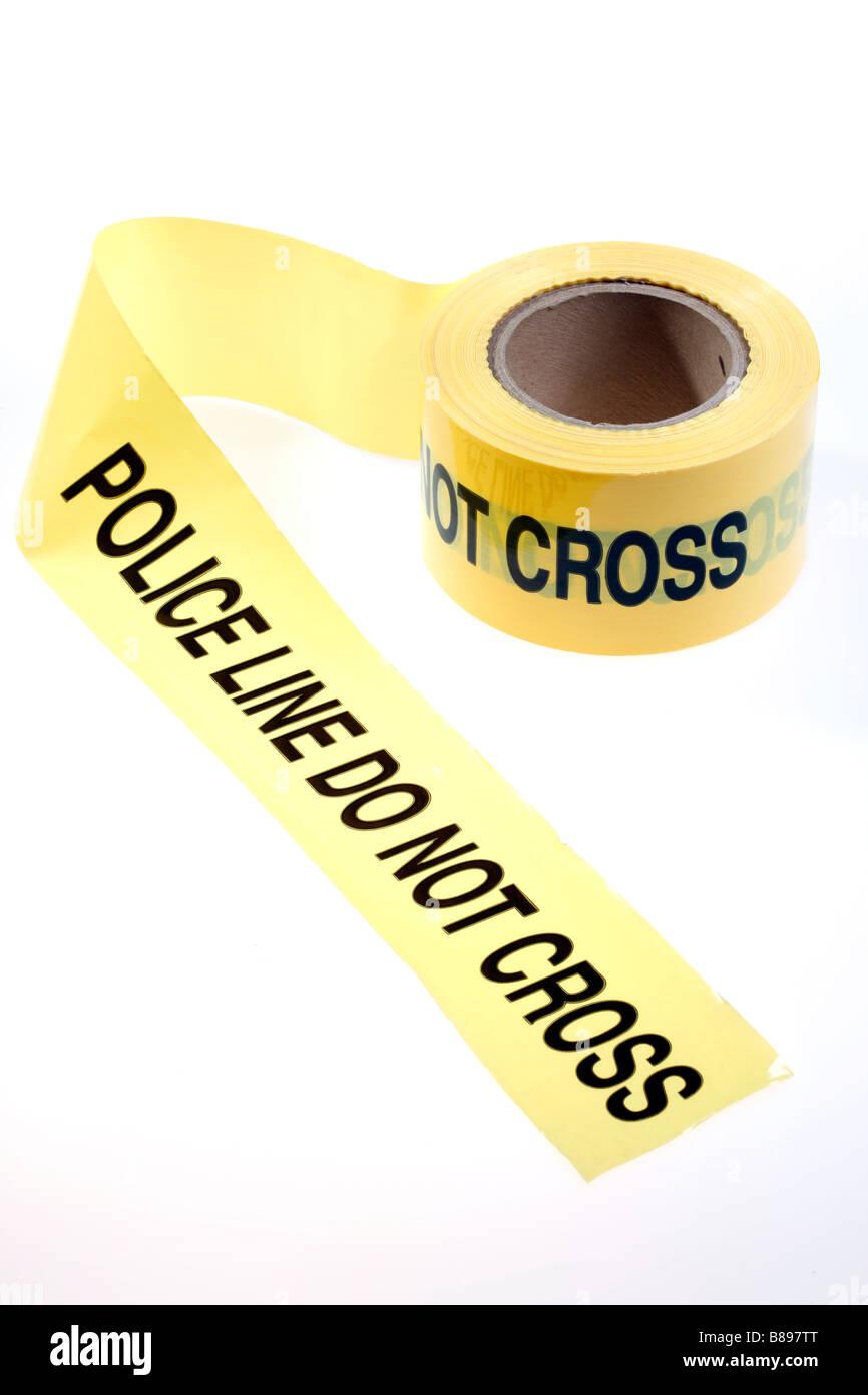 Police line Do not cross - Stock Image