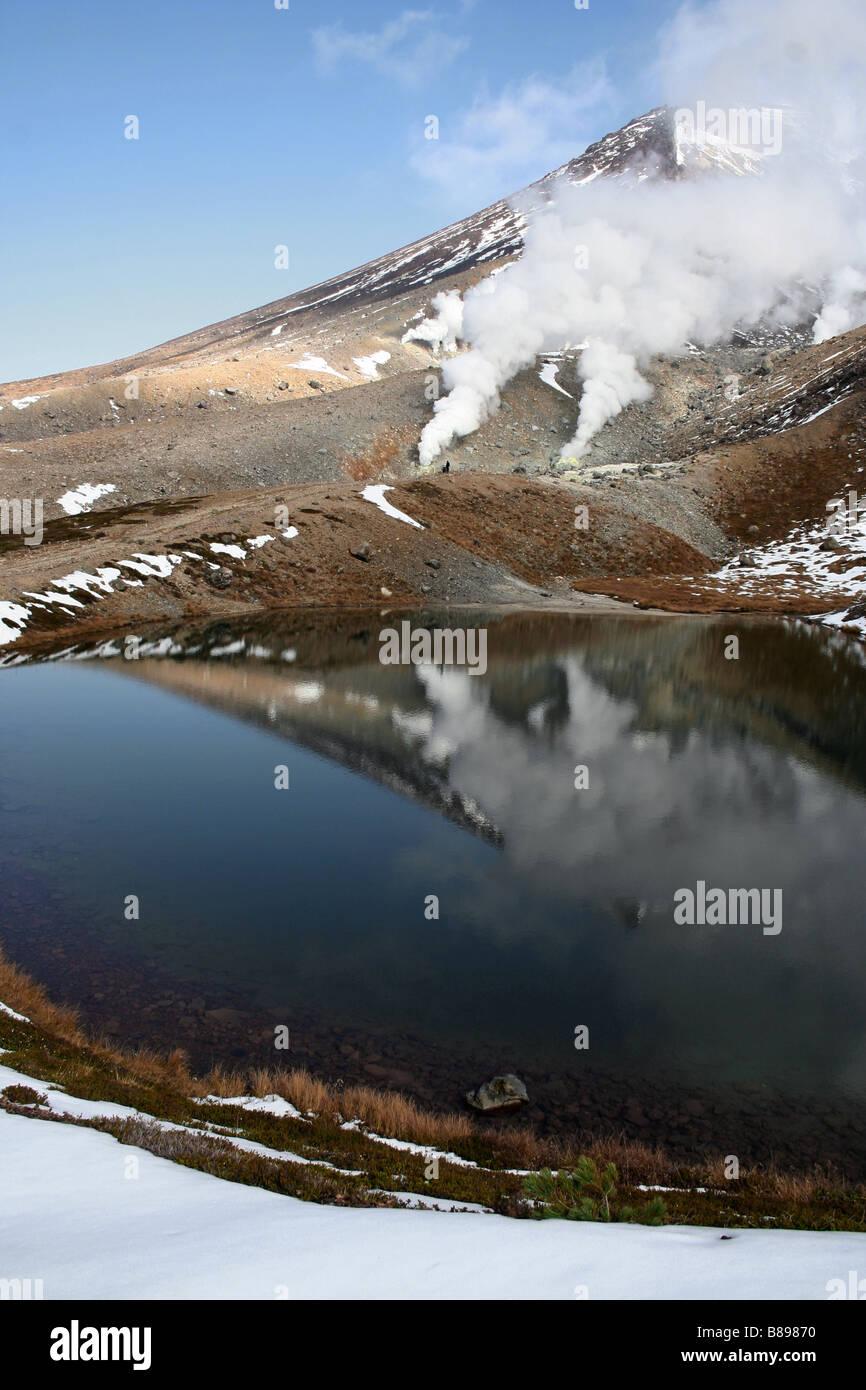 Sugatami Pond, Asahidake / Mt Asahi, Daisetsuzan National Park, Hokkaido, Japan - Stock Image