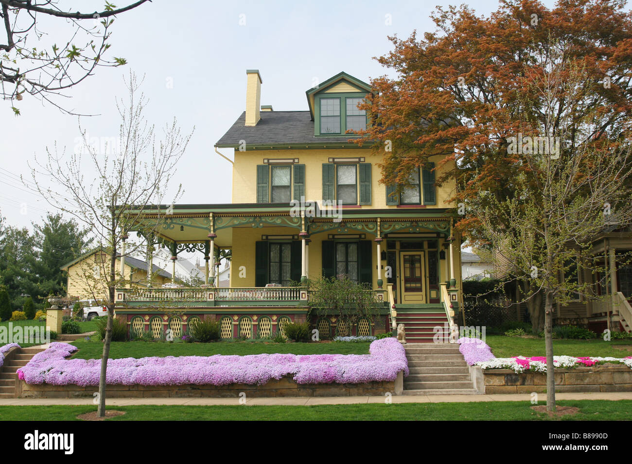 Historic Wolff House 105 East Gambier Street Mount Vernon Ohio - Stock Image