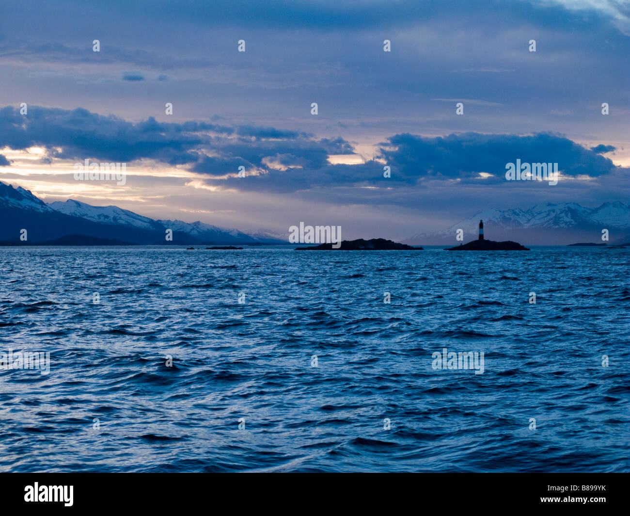 Ushuaia Patagonia Chile seen from the sea - Stock Image