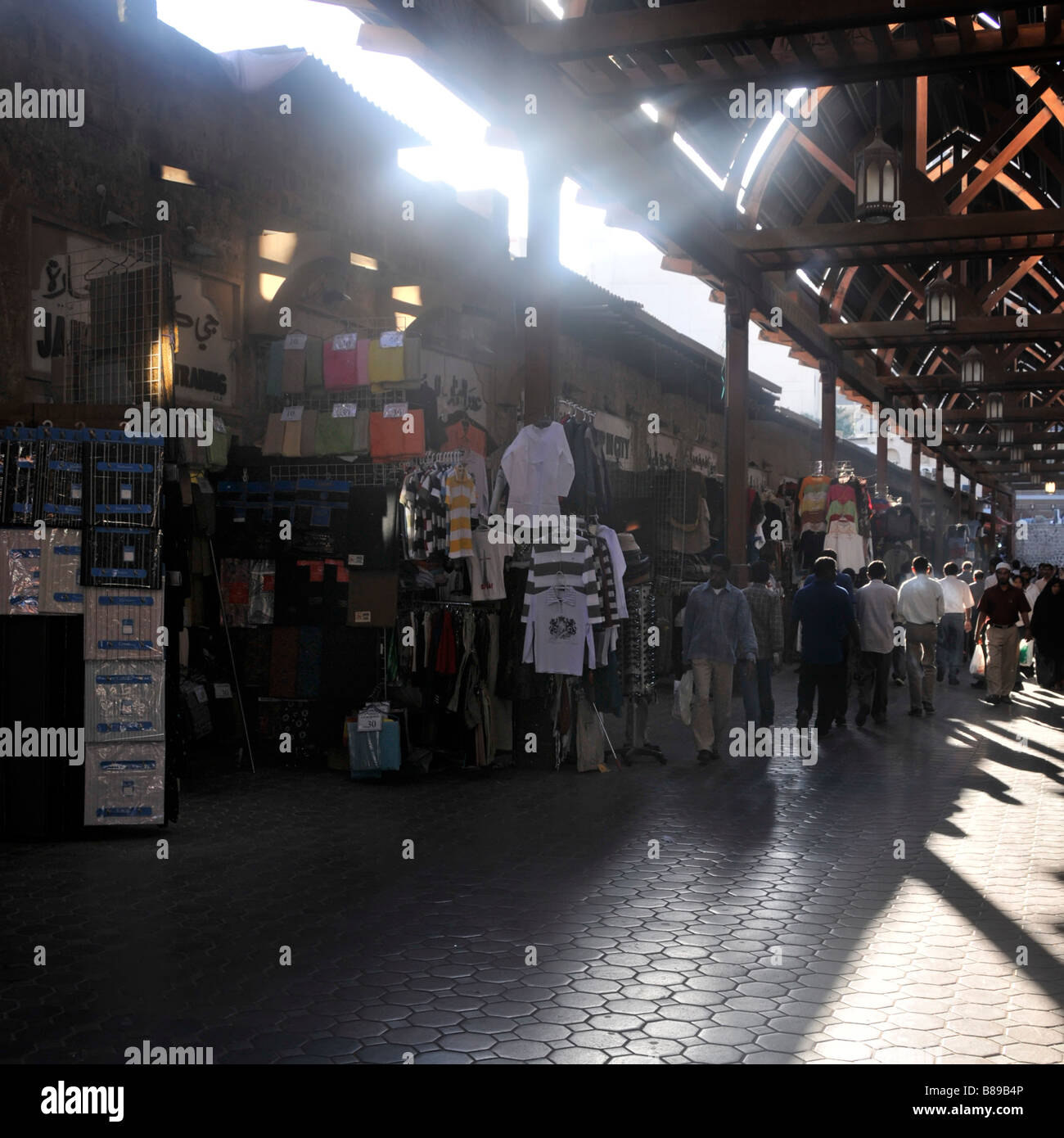 Dubai Old Souk open air market - Stock Image