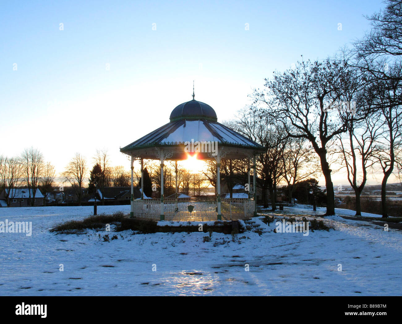 The Bandstand in Peel Park,Kirkintilloch,                 East Dunbartonshire,Near Glasgow,Scotland,UK. - Stock Image