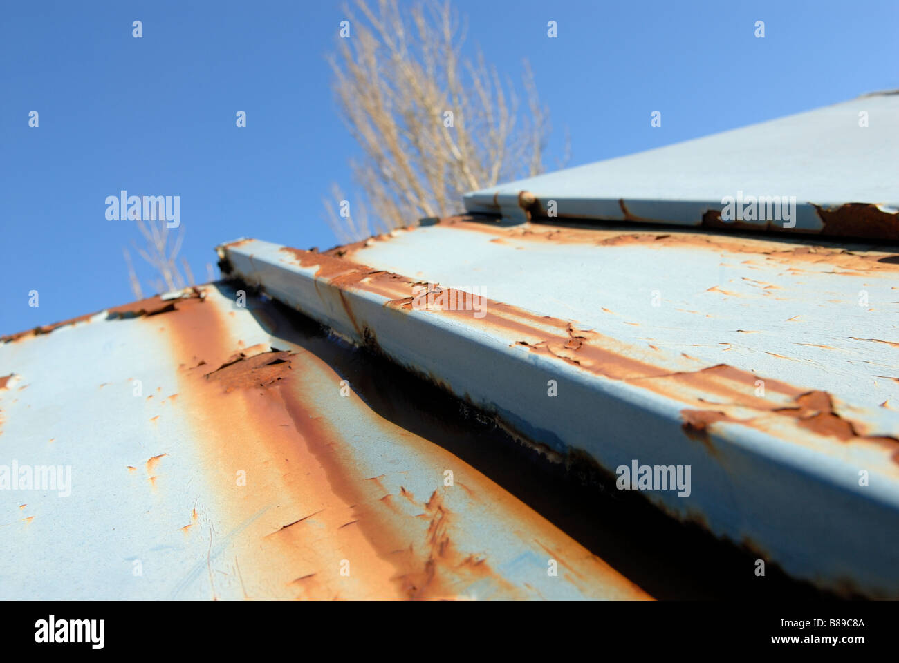 RUSTY CONTAINER - Stock Image