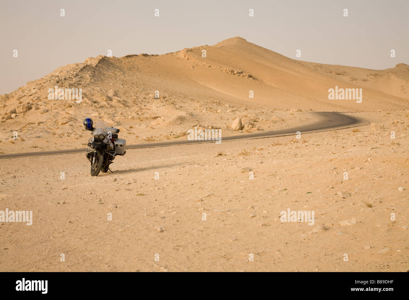 a bmw motorcycle in the syrian desert stock photo 22335867 alamy