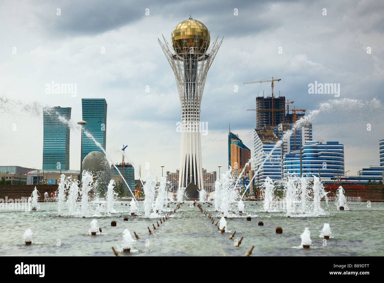 Astana capital of Kazakhstan Republic - Stock Image