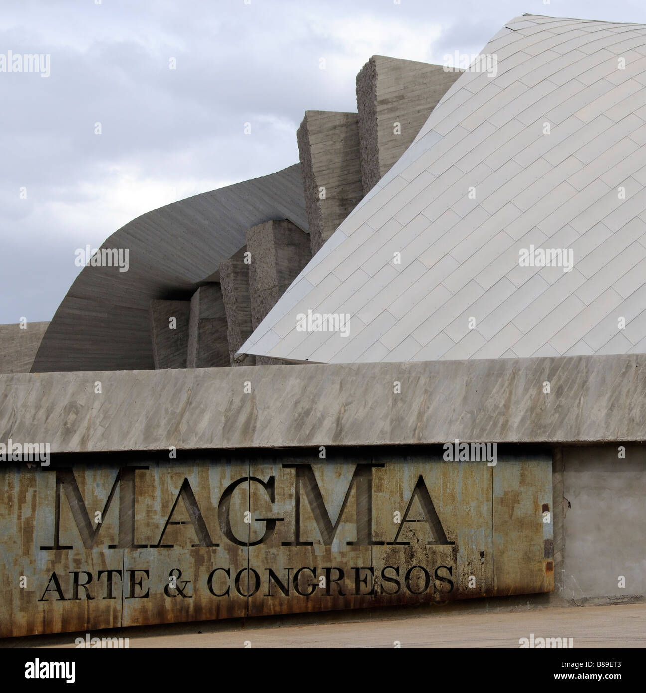 MagMa Art & Congress Centre Las Americanas Adeje south Tenerife Canary Islands a large concrete and stone building - Stock Image